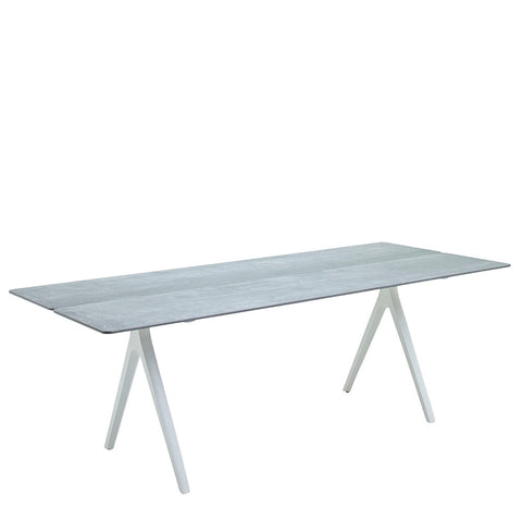 Split Medium Rectangular Table, Ceramic/White - Gloster