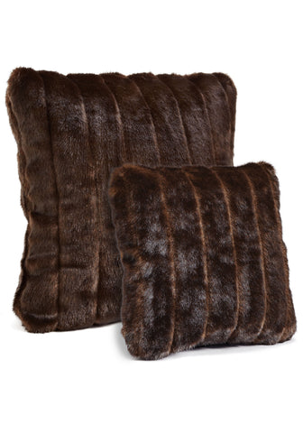 Sable Faux Fur Pillow 18x18 - Fabulous Furs