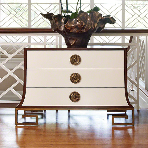 Sabre Chest, Ivory and Walnut - Global Views