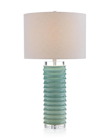 Scalloped Jade Table Lamp - John-Richard