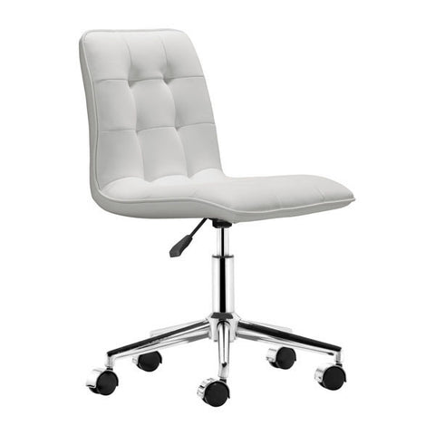 Scout Office Chair White - Zuo Modern