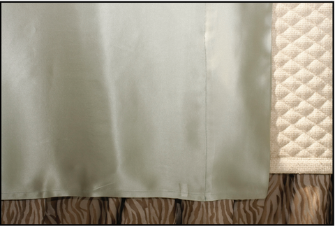 Ivory Charmeuse Queen Sheet Set - Ann Gish
