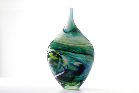 Merge Bottle Seascape Vessel - Teign Valley Glass
