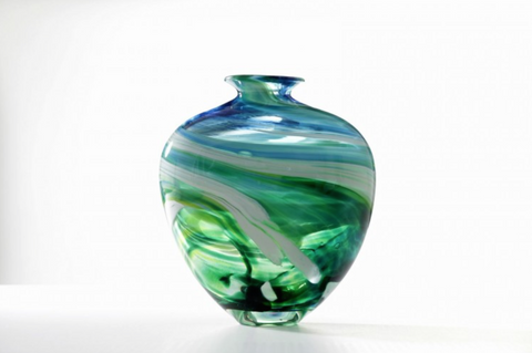 Merge Vase Seascape Vessel - Teign Valley Glass