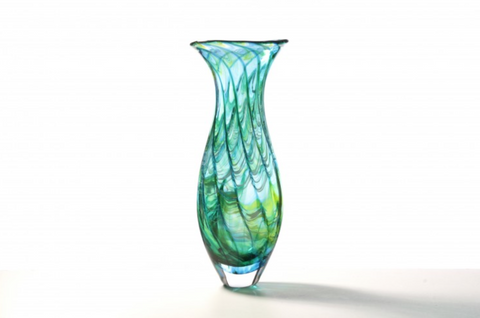 Ocean Tall Vase - Teign Valley Glass
