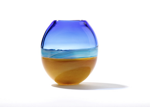 Cerlean Blue Beach Vase - Teign Valley Glass