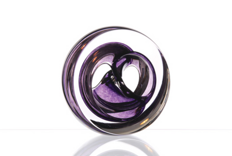 Twist Glass Sculpture, Purple - Teign Glass Valley