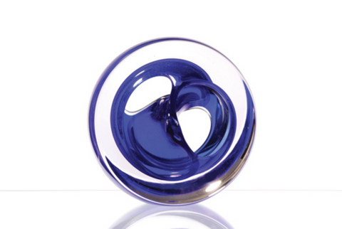 Twist Glass Sculpture, Blue - Teign Valley Glass