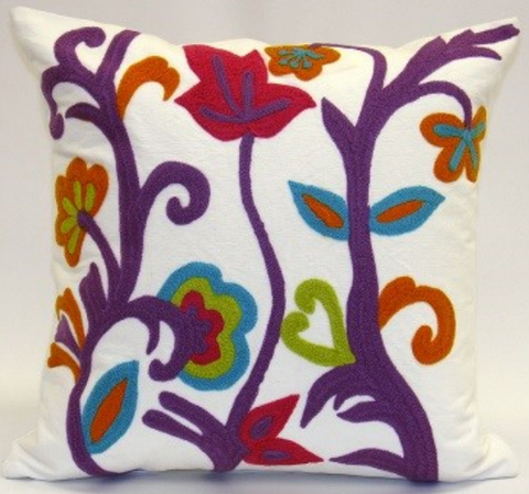 Whimsy Spring Garden Pillow - Sabira Collection