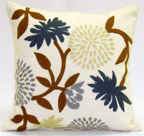 Whimsy Floral Pillow - Sabira Collection