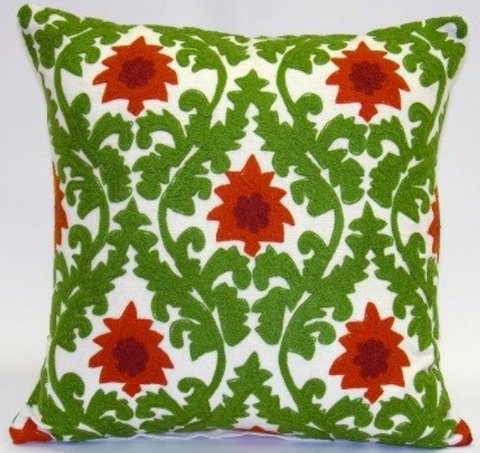 Whimsy Floral Damask Pillow - Sabira Collection