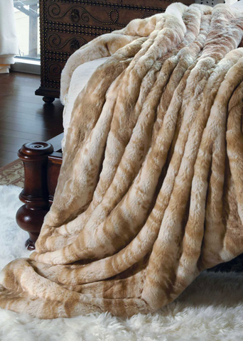 Blonde Mink Couture Faux Fur Throw - 60