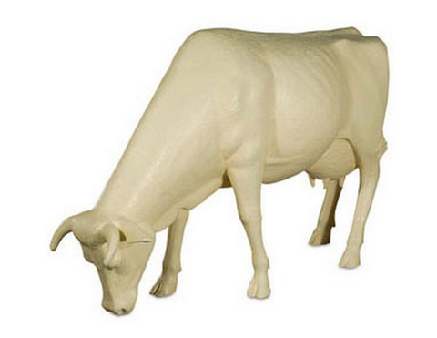 Life Size Cow, Grazing, Off-White - Phillips Collection