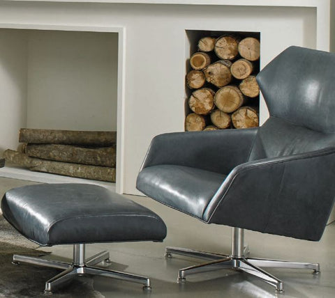Sebastian Leather Swivel Chair - Precedent