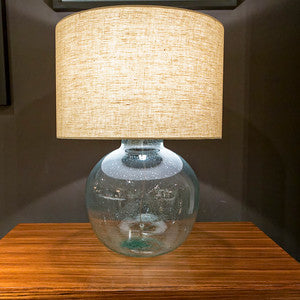 Seeded Recycled Glass Lamp - Regina-Andrew Design