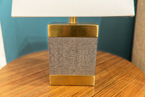 Shagreen Ceramic Rectangle Lamp - Regina-Andrew Design