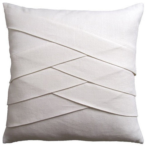 Slubby Linen Herringbone Pillow 22x22 - Ryan Studio