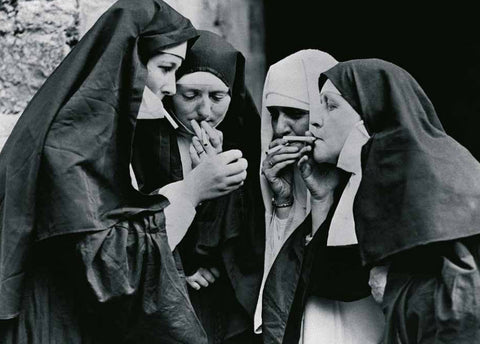 Smoking Nuns - Trowbridge Gallery