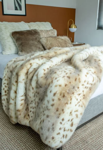 Snow Leopard Throw - Fabulous Furs