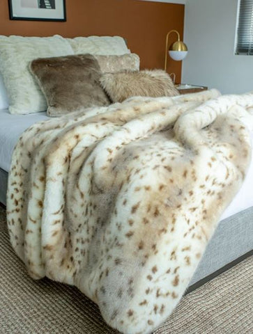 Couture Collection Snow Leopard Throw - Fabulous Furs