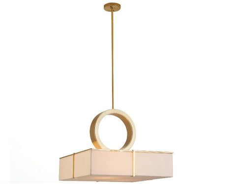Solitaire Mount Chandelier-Brass - Global Views