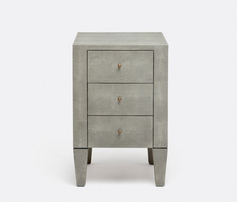 Sorin 3 Drawer Nightstand Single Castor Gray - Made Goods