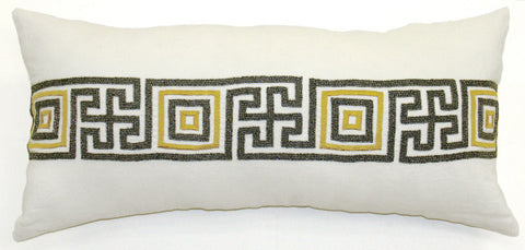 Sorento Greek Key Pillow - Sabira Collection