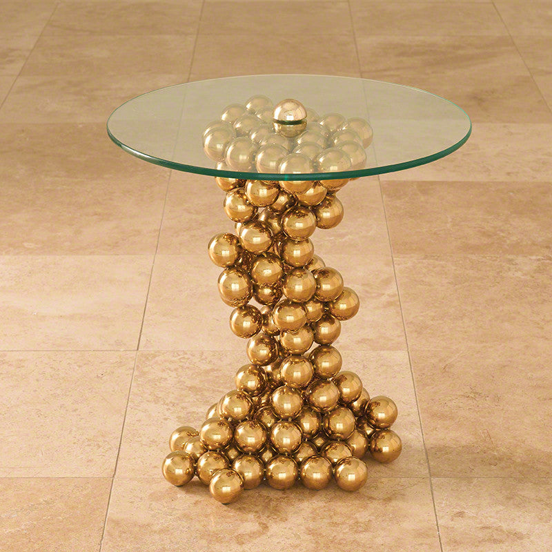 Sphere Table, Brass - Global Views
