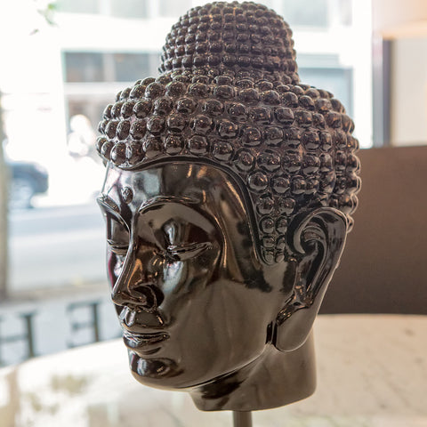 Spiritual Buddha Head, Black - Phillips Collection