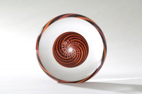 Spiro 2 Orange Black - Teign Valley Glass