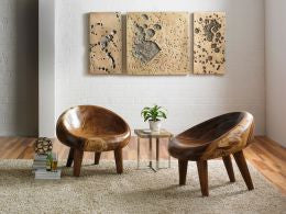 Chamcha Wood River Stone Chair - Phillips Collection