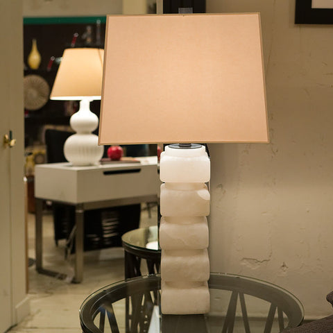 Square Chunky Stacked Table Lamp - Visual Comfort & Co