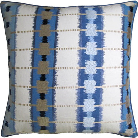Sri Lanka Embroidery Pillow 22x22 - Ryan Studio