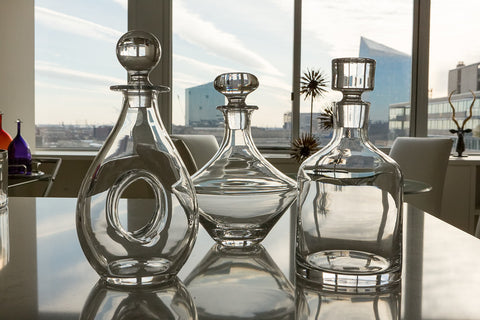 Stella Glass Decanters, Set of Three - Interlude Home