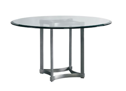 "Stella 60"" Round Dining Table w/Glass Top -Modern Living by  Lillian August"