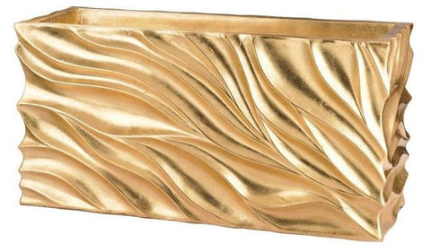 Gold Swirl Table Planter - Dimond Home