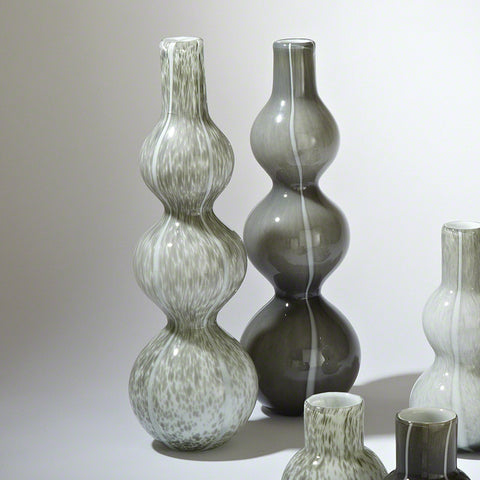 Three Bubble Vase Light Grey - Global Views