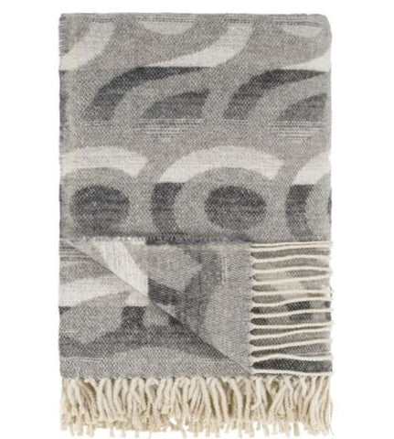 Latticino Graphite Throw - Designers Guild