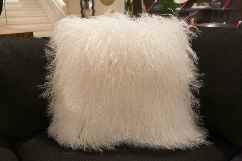 "Tibetan Lamb Wool Pillow 20"" x 20"" - Auskin"