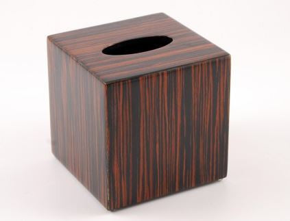 Cube Tissue Cover Macassar Ebony - Pacific Connections