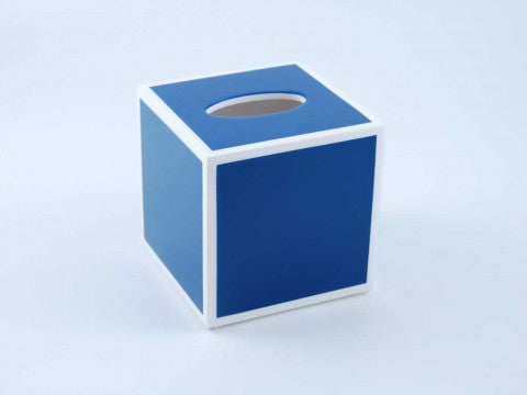 True Blue & White Tissue Box - Pacific Connections