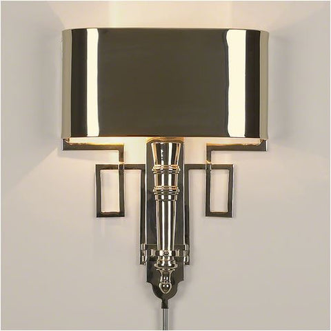 Torch Sconce with Shade - Nickel - Global Views