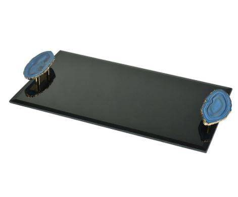 Atafu Agate Handle Tray - Dimond Home