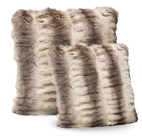 Truffle Chinchilla Faux Fur 24