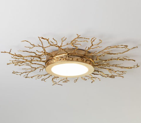 Twig Ceiling Fixture, Brass - Global Views