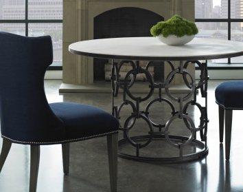 Seaton Dining Table With Stone Top - Lillian August