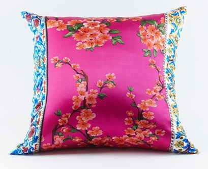 Cherry Silk Pillow Pink - Ann Gish