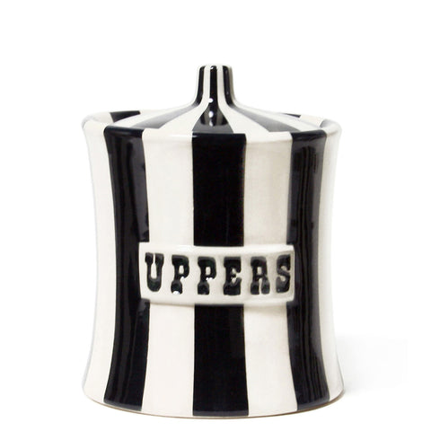 Uppers Canister Black - Jonathan Adler