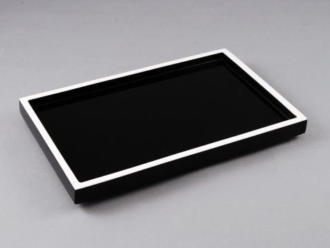 Vanity Tray Vanity Tray Black with White Trim - Pacific Connections