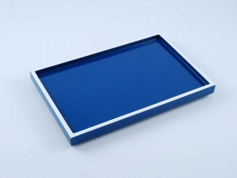 True Blue & White Long Vanity Tray - Pacific Connections